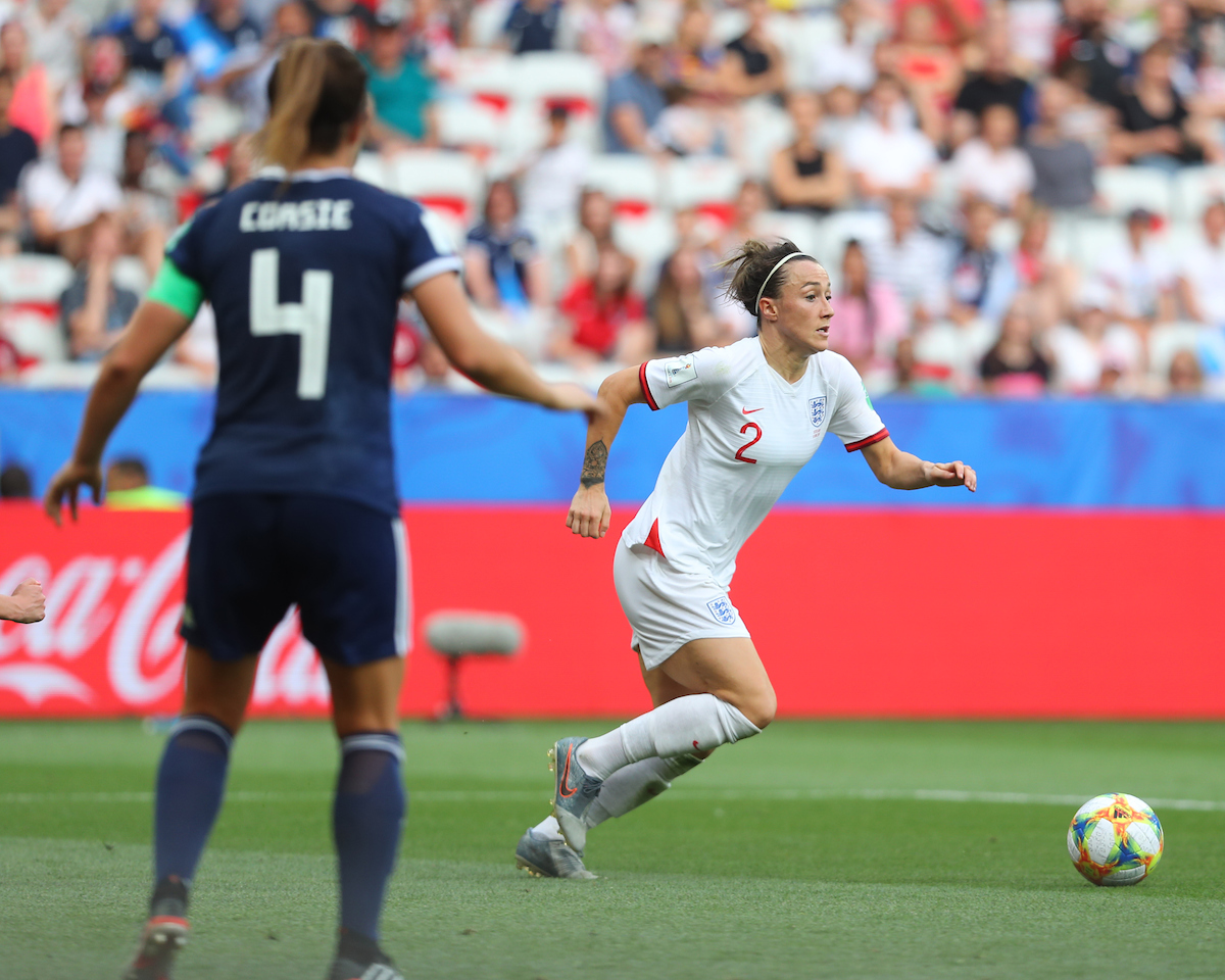 Lucy Bronze of England Women during the 2019 FIFA Women's World Cup match at Allianz Riviera, Nice Picture by Kunjan Malde/Focus Images Ltd +447523653989 09/06/2019