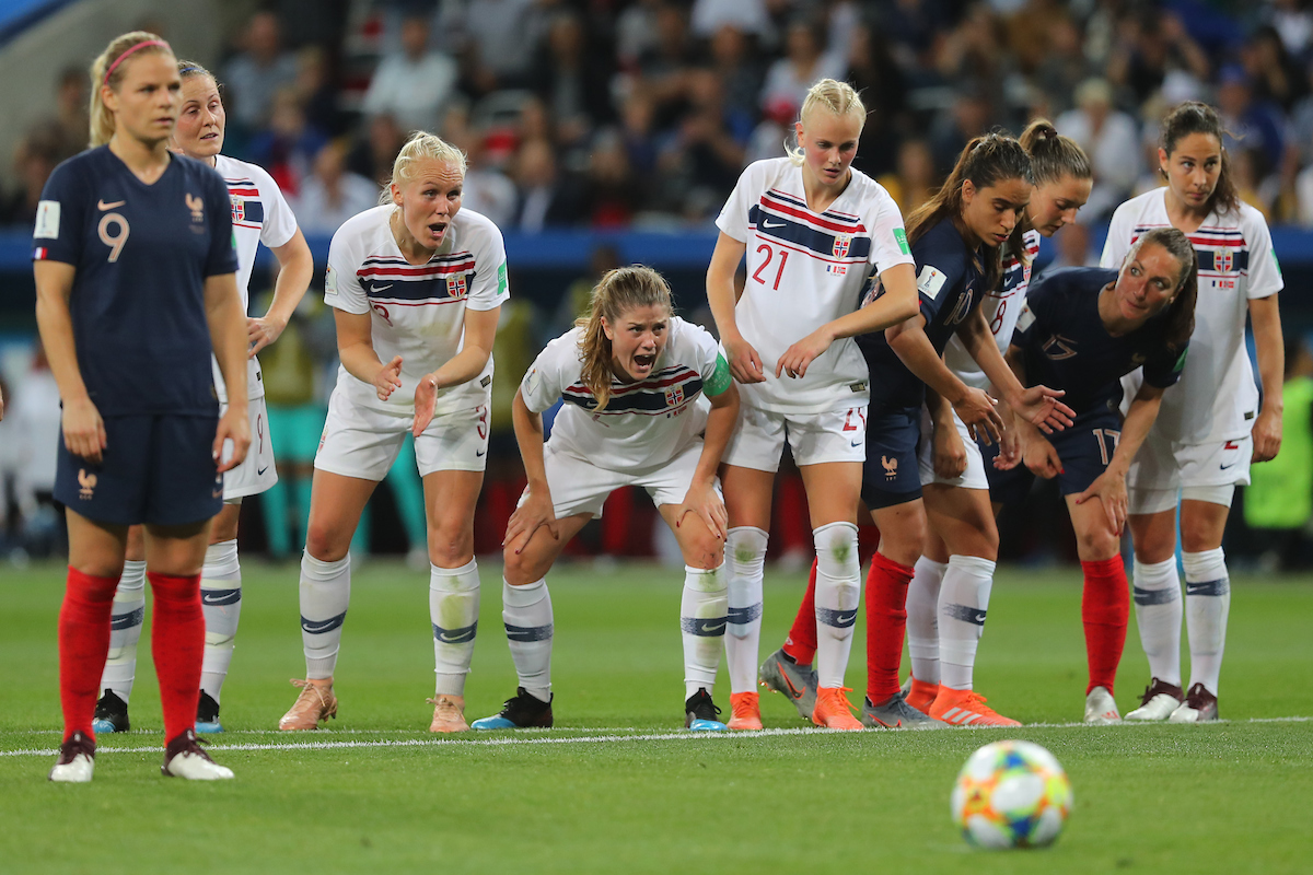 Maren Mjelde of Norway Women shouts during the 2019 FIFA Women's World Cup match at Allianz Riviera, Nice Picture by Kunjan Malde/Focus Images Ltd +447523653989 12/06/2019