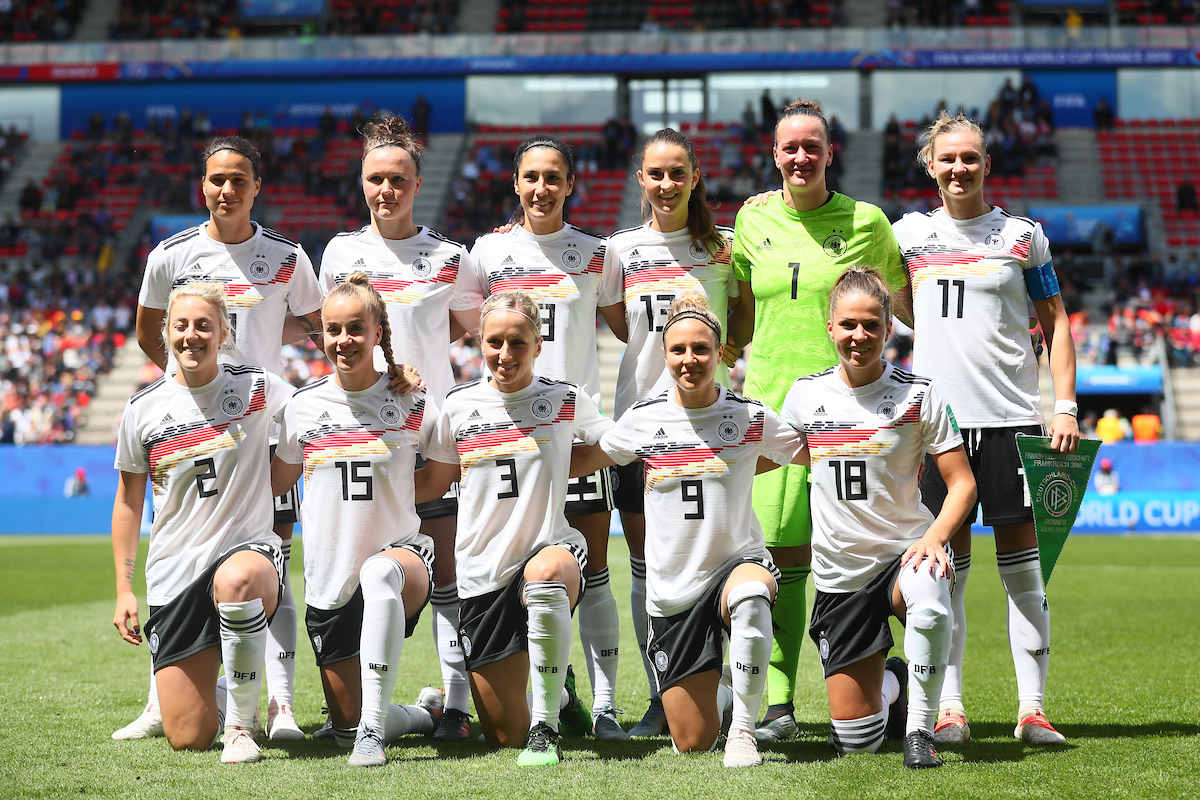 Team line up of Germany Women during the FIFA Women's World Cup 2019 match at Roazhon Park, Rennes Picture by Kunjan Malde/Focus Images Ltd +447523653989 08/06/2019