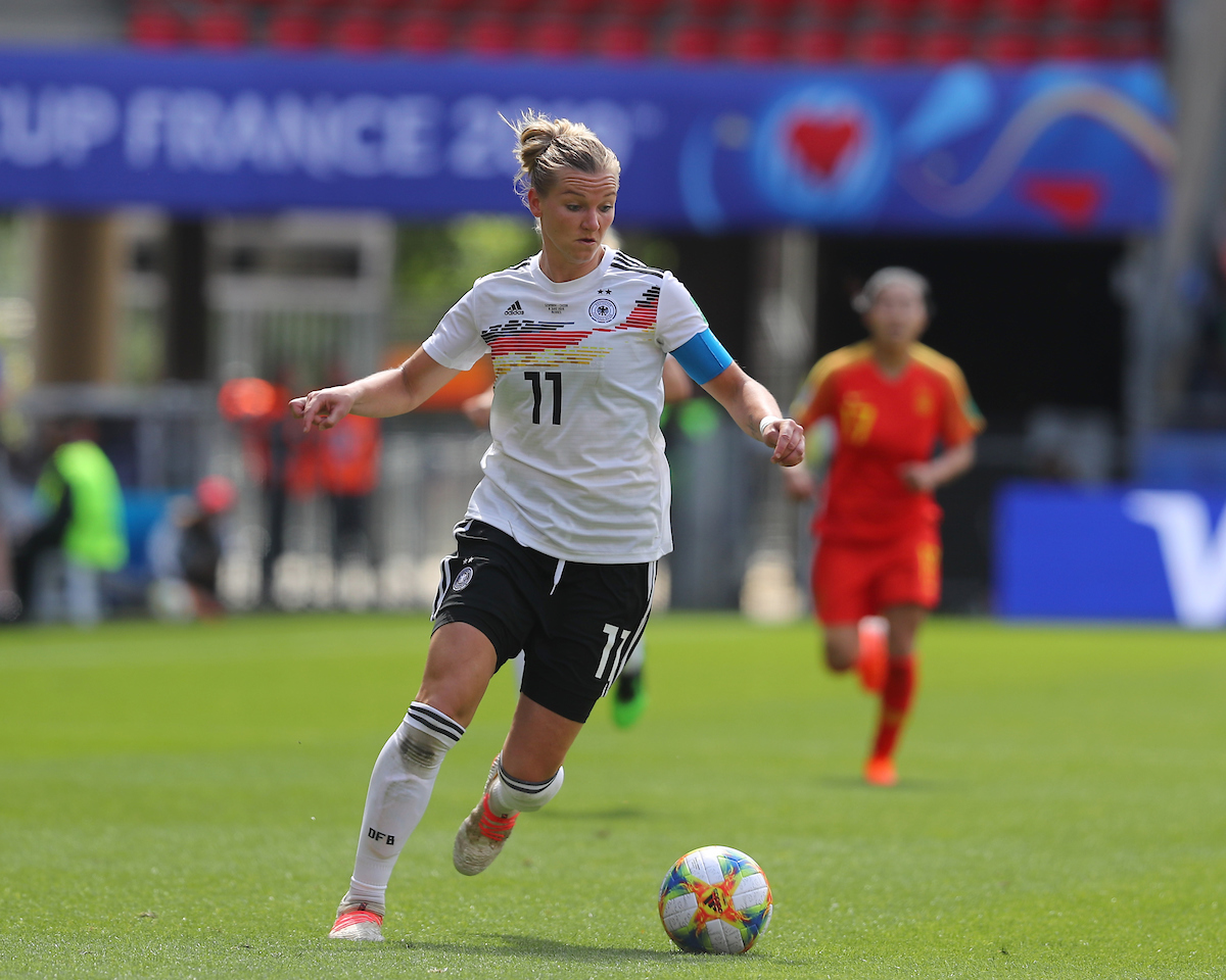 Alexandra Popp of Germany Women during the FIFA Women's World Cup 2019 match at Roazhon Park, Rennes Picture by Kunjan Malde/Focus Images Ltd +447523653989 08/06/2019