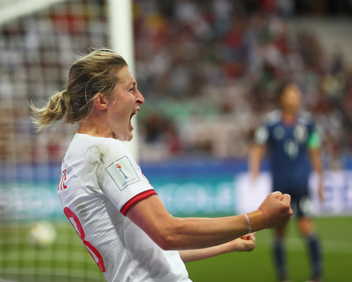 Ellen White of England Women celebrates scoring during the 2019 FIFA Women's World Cup match at Allianz Riviera, Nice Picture by Kunjan Malde/Focus Images Ltd +447523653989 19/06/2019