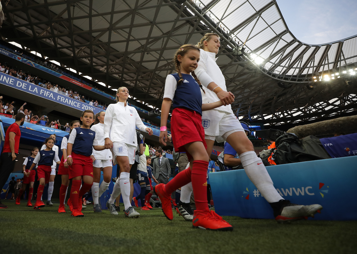 Ellen White and Toni Duggan of England Women during the 2019 FIFA Women's World Cup match at Allianz Riviera, Nice Picture by Kunjan Malde/Focus Images Ltd +447523653989 19/06/2019