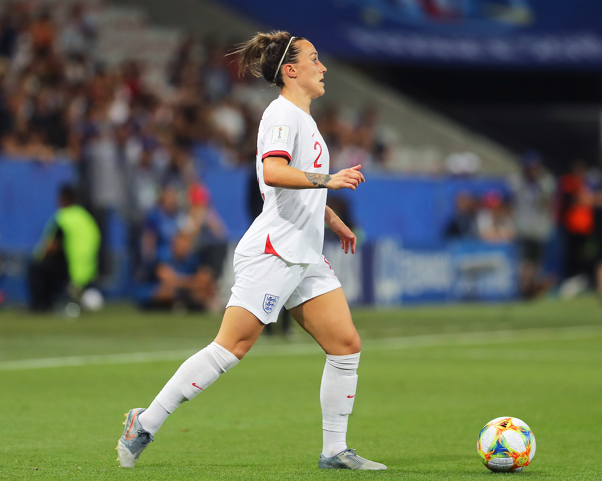 Lucy Bronze of England Women during the 2019 FIFA Women's World Cup match at Allianz Riviera, Nice Picture by Kunjan Malde/Focus Images Ltd +447523653989 19/06/2019