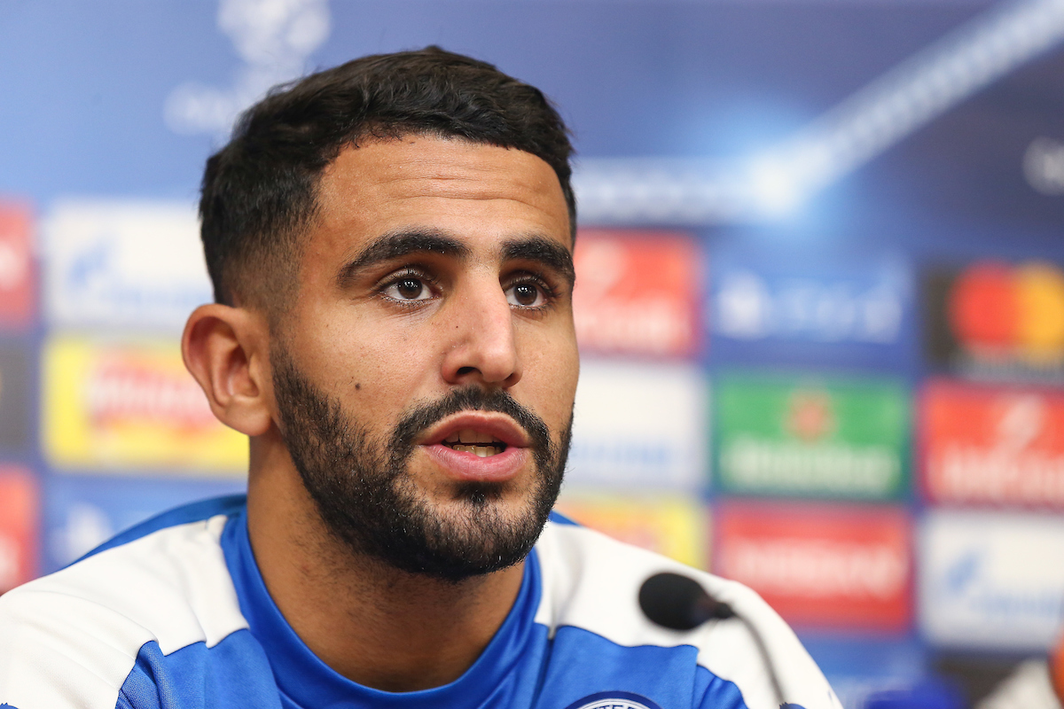 Riyad Mahrez of Leicester City during the Leicester City Press Conference at the King Power Stadium, Leicester Picture by Andy Kearns/Focus Images Ltd 0781 864 4264 21/11/2016