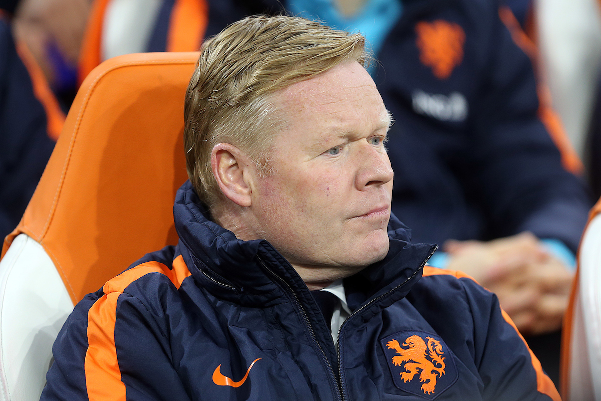 Netherlands Manager Ronald Koeman before the International Friendly match at Amsterdam Arena, Amsterdam Picture by Paul Chesterton/Focus Images Ltd +44 7904 640267 23/03/2018
