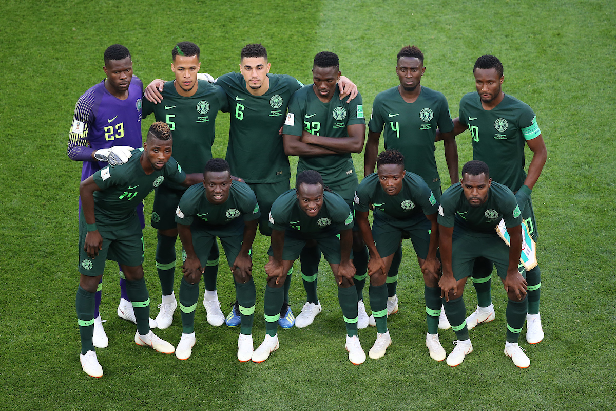 The Nigeria team before the 2018 FIFA World Cup match at St Petersburg Stadium, St Petersburg Picture by Paul Chesterton/Focus Images Ltd +44 7904 640267 26/06/2018
