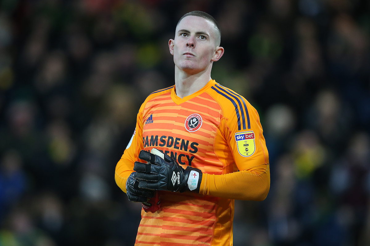 Dean Henderson of Sheffield United looks dejected after his side concedes it's 2nd goal during the Sky Bet Championship match at Carrow Road, Norwich Picture by Paul Chesterton/Focus Images Ltd +44 7904 640267 26/01/2019