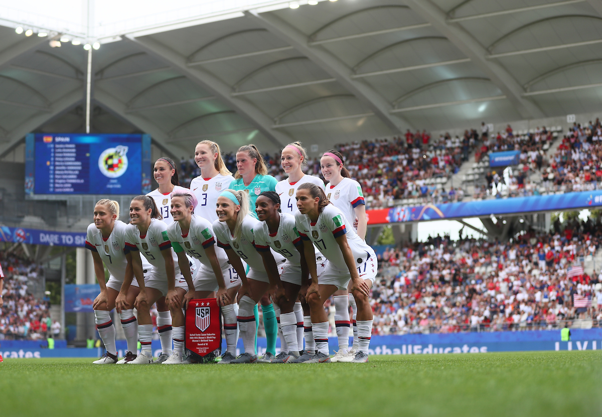 The team shot of USA Women during the 2019 FIFA Women's World Cup match at Stade Auguste Delaune, Reims Picture by Kunjan Malde/Focus Images Ltd +447523653989 24/06/2019