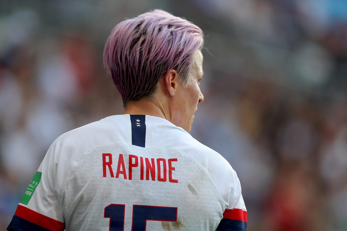 Megan Rapinoe of USA Women during the 2019 FIFA Women's World Cup match at Stade Auguste Delaune, Reims Picture by Kunjan Malde/Focus Images Ltd +447523653989 24/06/2019