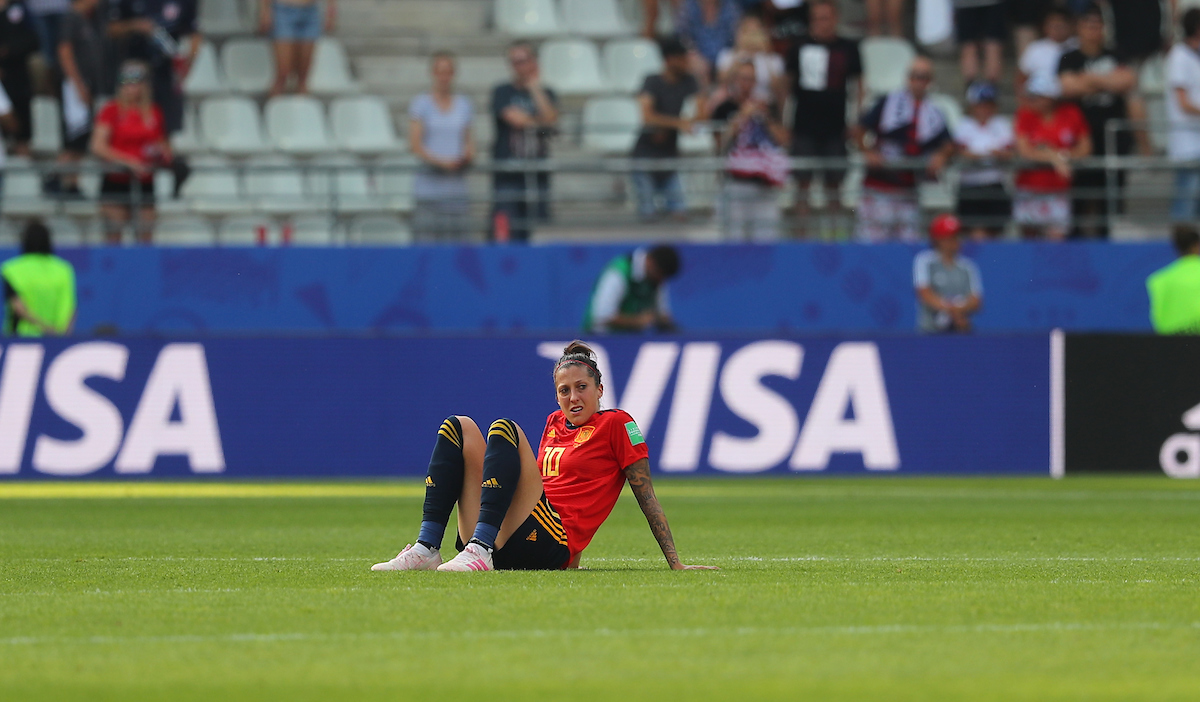 Jennifer Hermoso of Spain Women during the 2019 FIFA Women's World Cup match at Stade Auguste Delaune, Reims Picture by Kunjan Malde/Focus Images Ltd +447523653989 24/06/2019