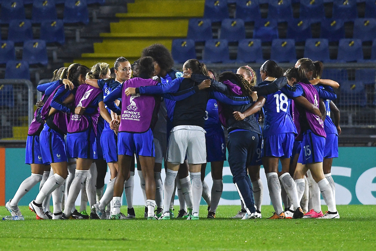 France players celebrate following the UEFA Women's Euros 2017 match at the Rat Verlegh Stadion, Breda Picture by Kristian Kane/Focus Images Ltd +44 7814 482222 26/07/2017