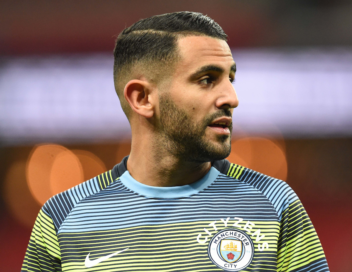 Riyad Mahrez of Manchester City prior to the Premier League match at Wembley Stadium, London Picture by Martyn Haworth/Focus Images Ltd 07463250714 29/10/2018