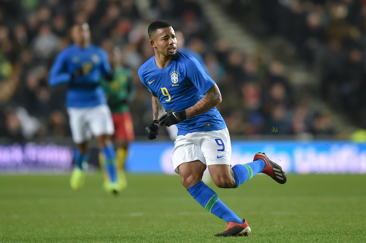 Gabriel Jesus of Brazil during the International Friendly match at Stadium MK, Milton Keynes Picture by Martyn Haworth/Focus Images Ltd 07463250714 20/11/2018