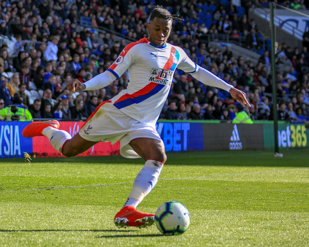 Aaron Wan-Bissaka of Crystal Palace during the Premier League match at the Cardiff City Stadium, Cardiff Picture by Matthew Lofthouse/Focus Images Ltd 07703 390510 04/05/2019