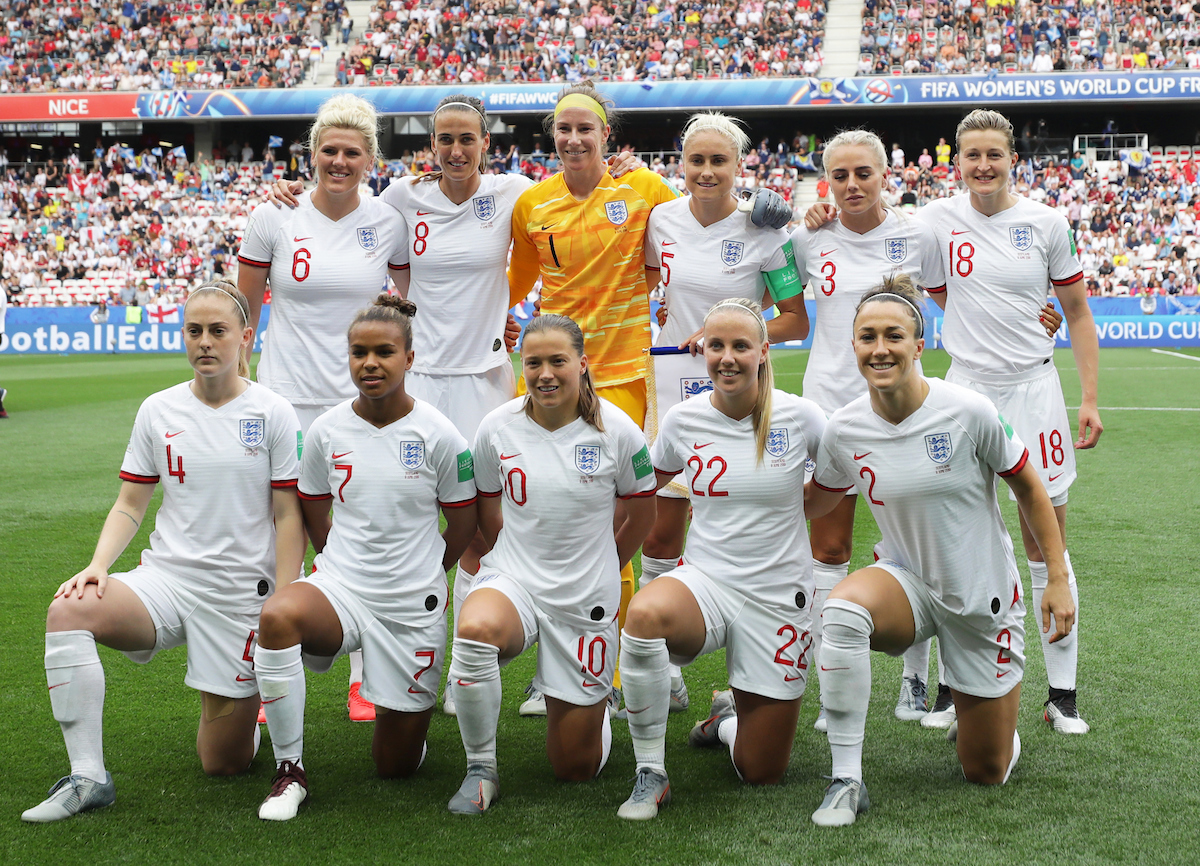 England team line up during the 2019 FIFA Women's World Cup match at Allianz Riviera, Nice Picture by Kunjan Malde/Focus Images Ltd +447523653989 09/06/2019