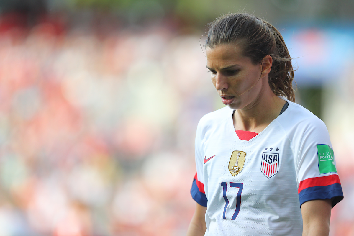Tobin Heath of USA Women during the 2019 FIFA Women's World Cup match at Stade Auguste Delaune, Reims Picture by Kunjan Malde/Focus Images Ltd +447523653989 24/06/2019