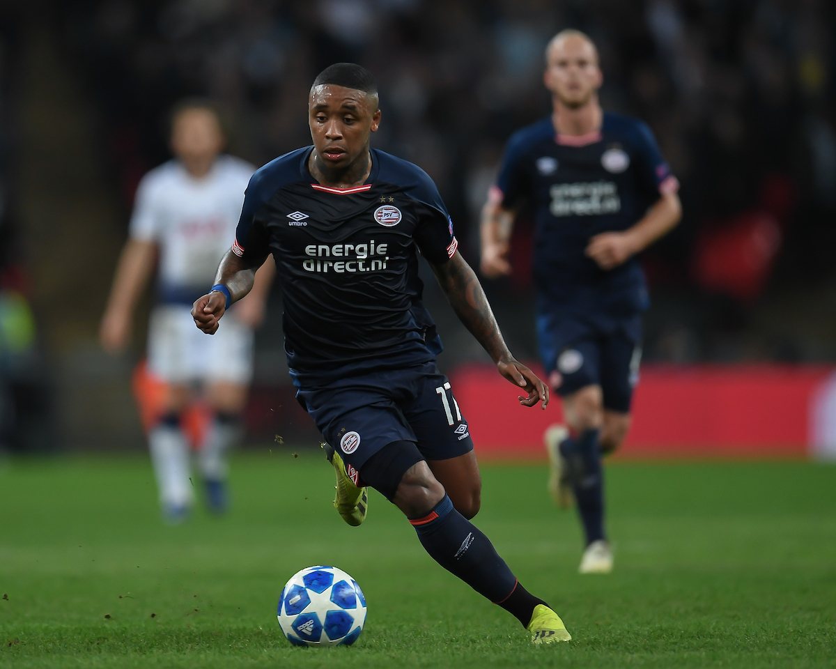 Steven Bergwijn of PSV Eindhoven during the UEFA Champions League match at Wembley Stadium, London Picture by Martyn Haworth/Focus Images Ltd 07463250714 06/11/2018