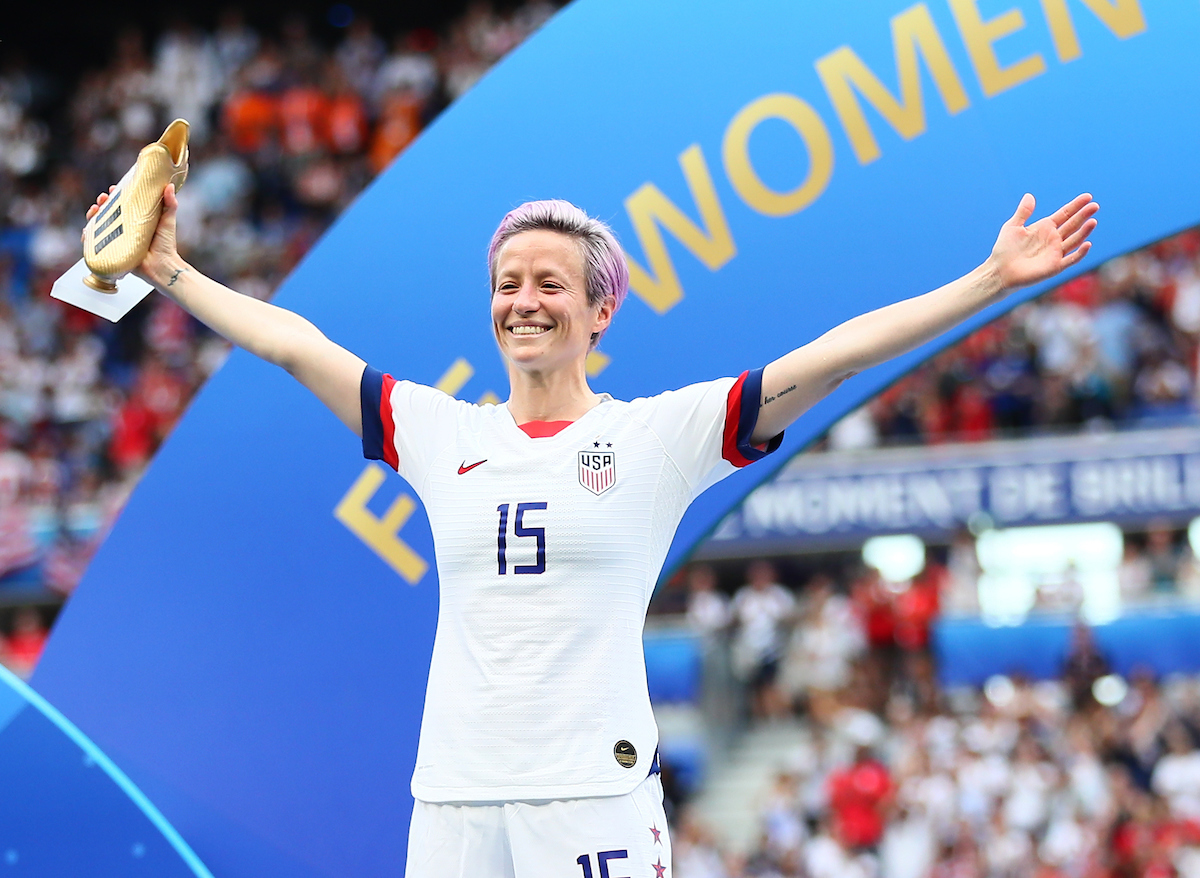 Megan Rapinoe of USA Women during the 2019 FIFA Women's World Cup Final at Stade de Lyons, Lyons Picture by Kunjan Malde/Focus Images Ltd +447523653989 07/07/2019