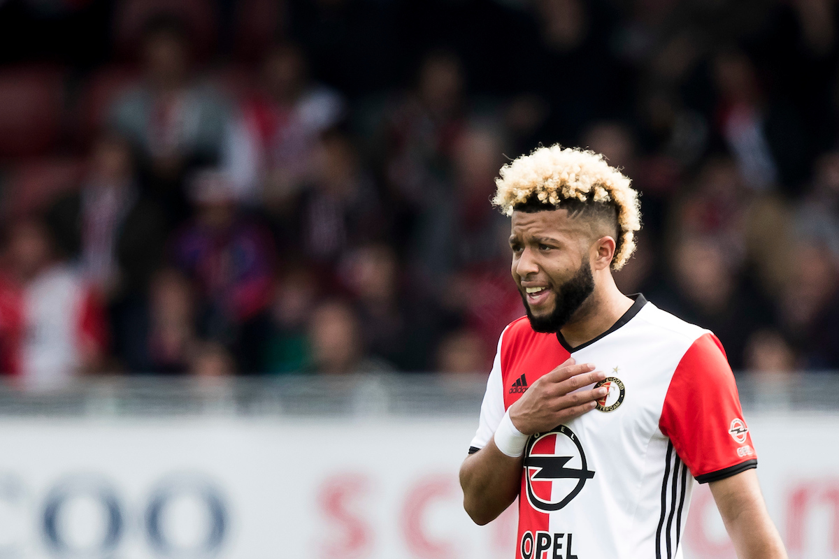 disappointed Tonny Vilhena of Feyenoord Rotterdam during the Dutch Eredivisie match at Stadion Woudestein, Rotterdam Picture by Joep Joseph Leenen/Focus Images Ltd +316 5261929 07/05/2017 ***NETHERLANDS OUT***
