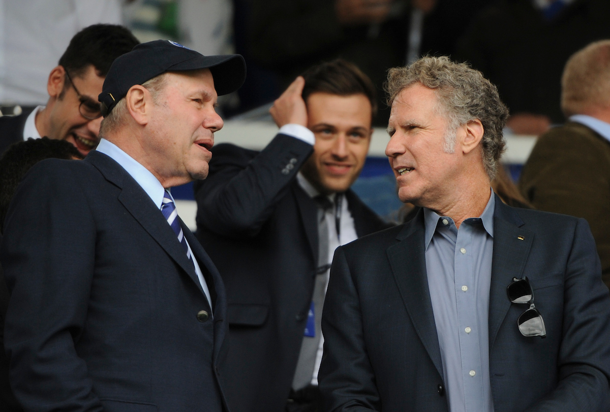 Will Ferrell en Fratton Park. Foto: Jeremy Landey/Focus Images Ltd.