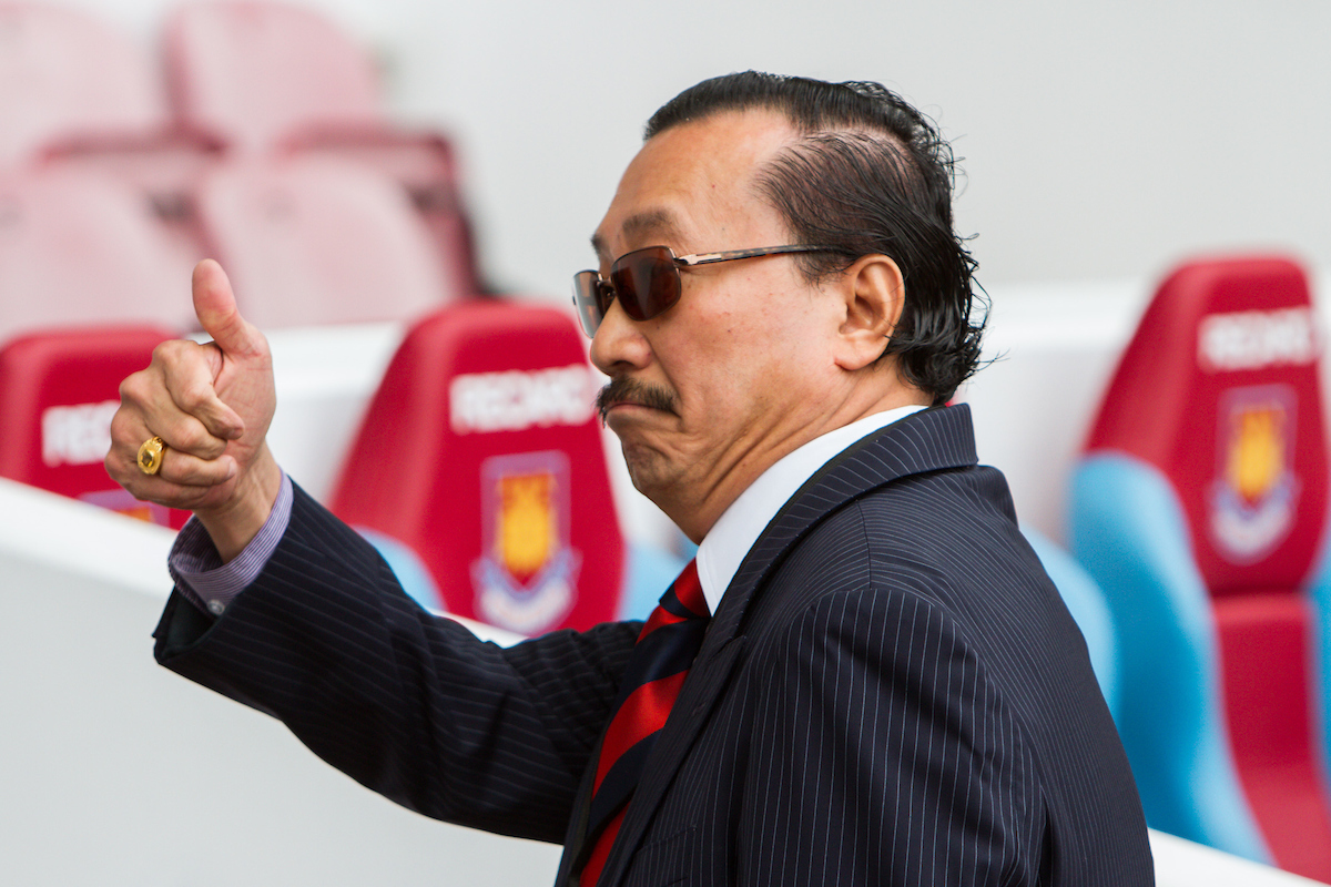 Picture by Daniel Chesterton/Focus Images Ltd +44 7966 018899 17/08/2013 Cardiff City owner Vincent Tan before the Barclays Premier League match at the Boleyn Ground, London.