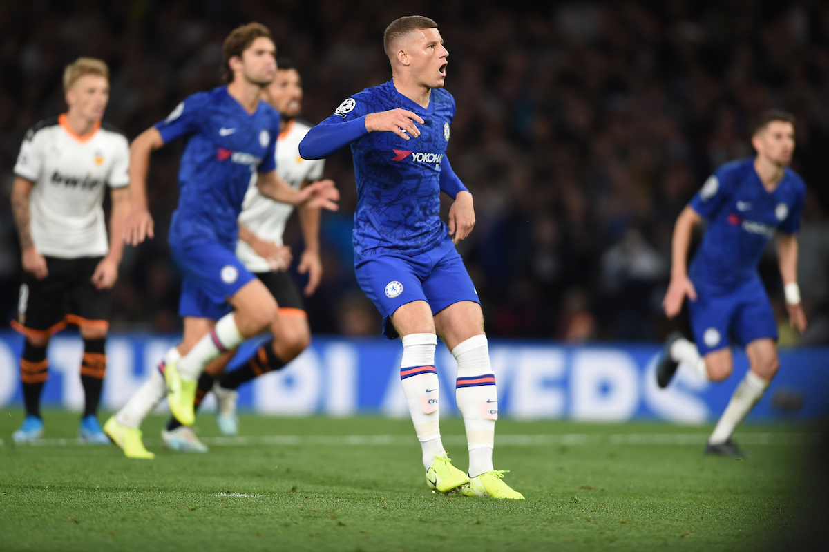 Chelsea's Ross Barkley takes a penalty but fails to score during the UEFA Champions League match at Stamford Bridge, London Picture by Daniel Hambury/Focus Images Ltd 07813022858 17/09/2019