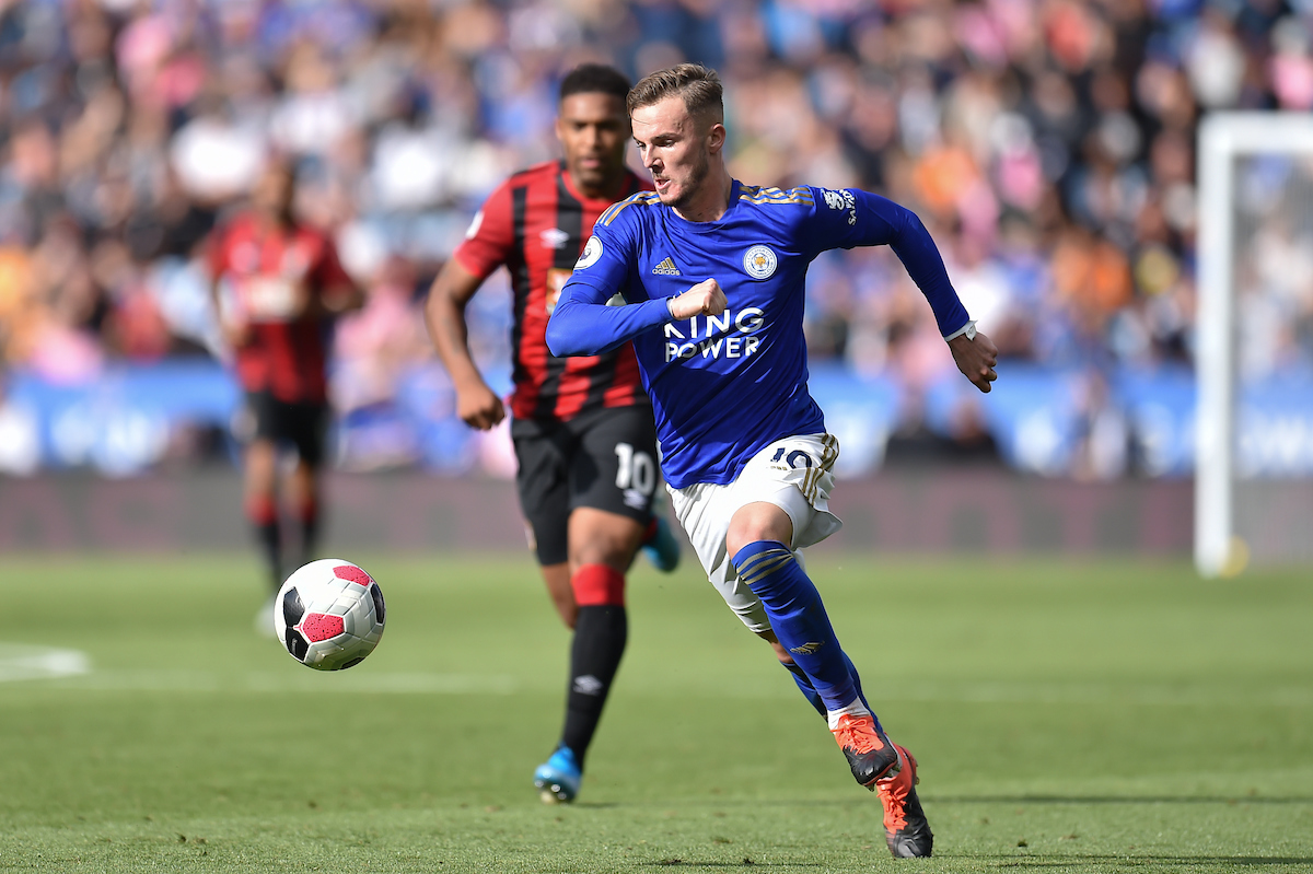 James Maddison of Leicester City during the Premier League match at the King Power Stadium, Leicester Picture by Martyn Haworth/Focus Images Ltd 07463250714 31/08/2019