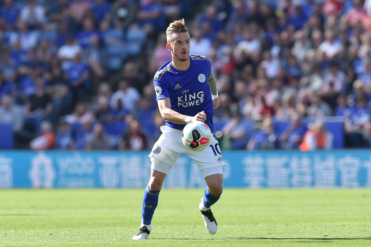 James Maddison of Leicester City during the Premier League match at the King Power Stadium, Leicester Picture by Martyn Haworth/Focus Images Ltd 07463250714 21/09/2019
