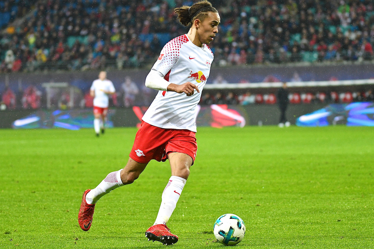 Yussuf Poulsen of RB Leipzig during the Bundesliga match at Red Bull Arena, Leipzig Picture by Kristian Kane/Focus Images Ltd +44 7814 482222 25/11/2017