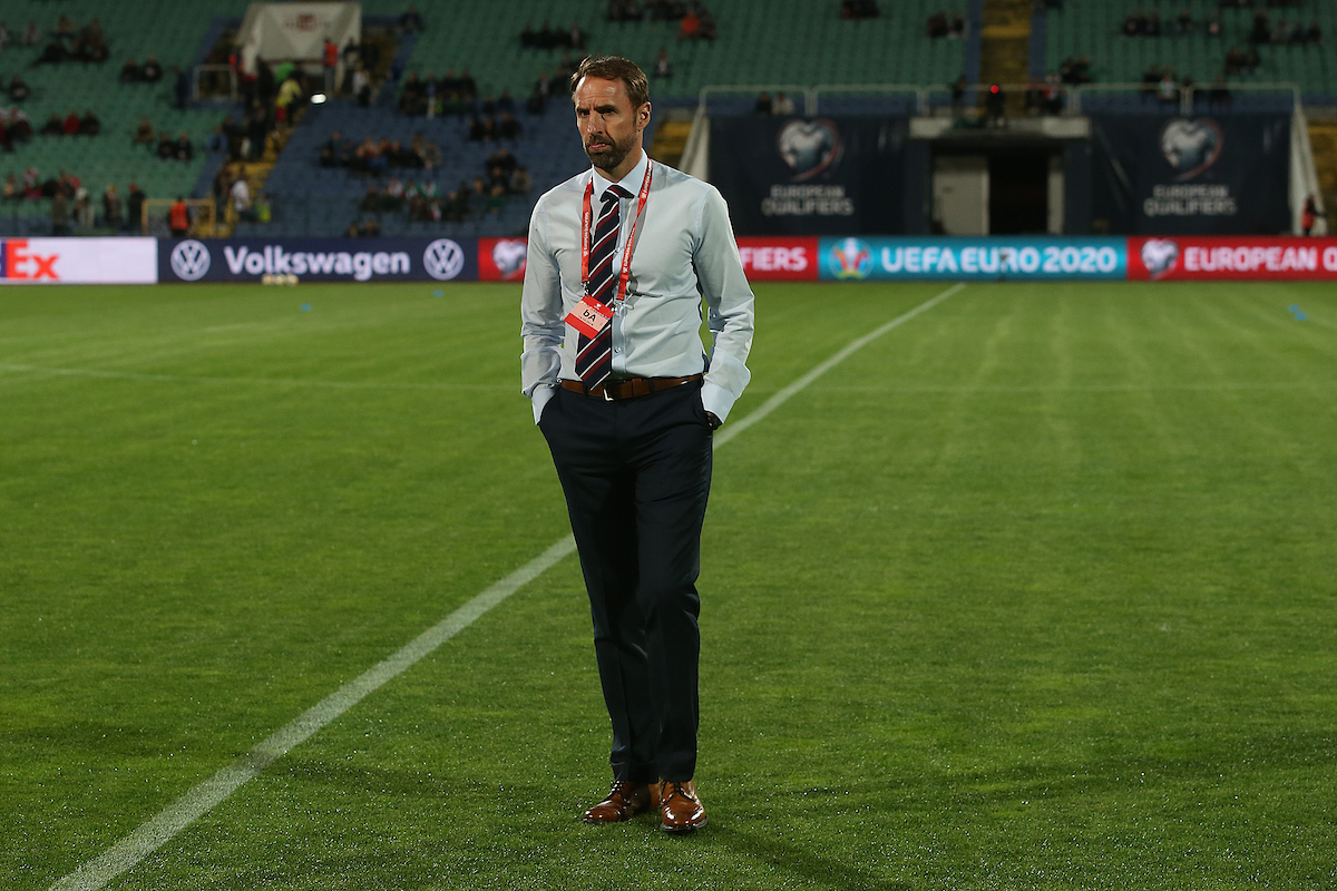 England Manager Gareth Southgate before the UEFA Euro 2020  Qualifiers match at Vasil Levski National Stadium, Sofia Picture by Paul Chesterton/Focus Images Ltd +44 7904 640267 14/10/2019