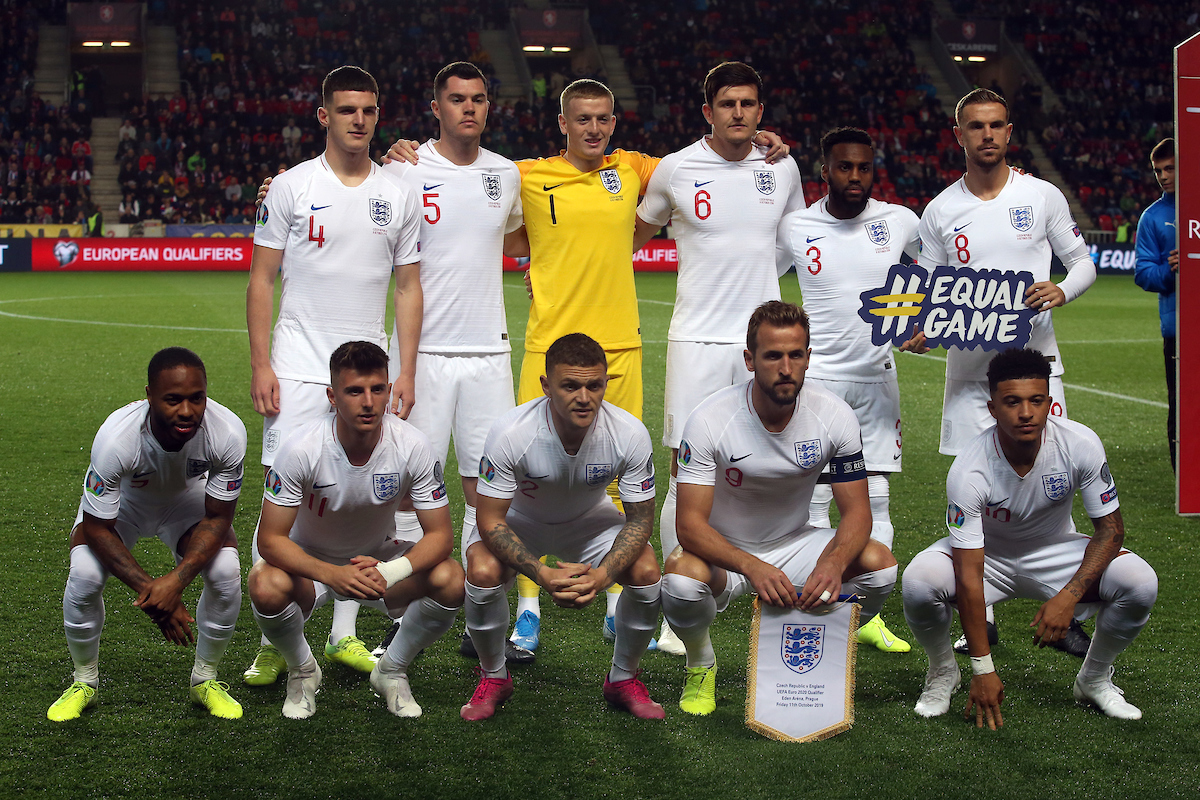 The England team before the UEFA Euro 2020 Qualifiers match at Sinobo Stadium, Prague Picture by Paul Chesterton/Focus Images Ltd +44 7904 640267 11/10/2019