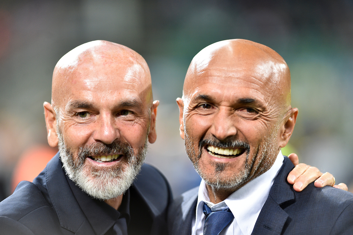 Luciano Spalletti, head coach of Inter Milan (left) and Stefano Pioli, head coach of ACF Fiorentina, during the Serie A match at San Siro, Milan Picture by Antonio Polia/Focus Images Ltd +393473147935 25/09/2018