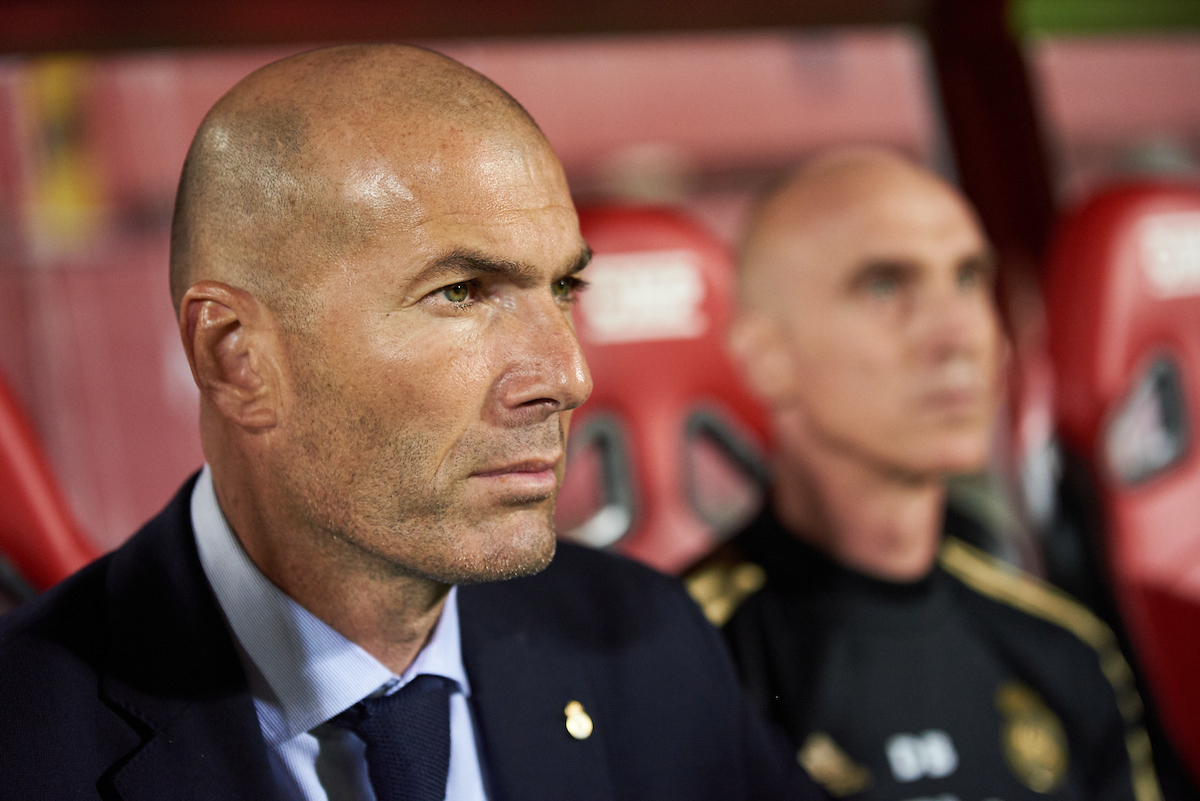 Zinedine Zidane of Real Madrid during the La Liga match at Iberostar Stadium, Palma Picture by Cristian Trujillo/Focus Images Ltd +34 64958 5571 19/10/2019