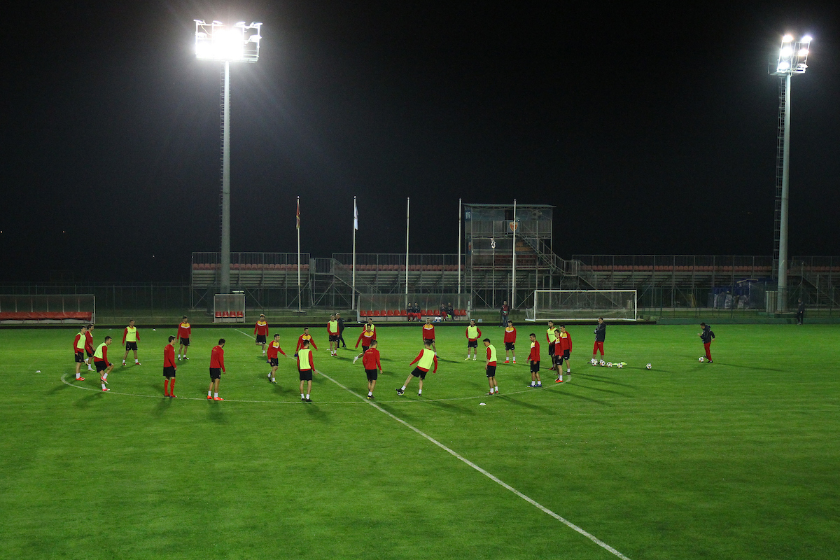 The Montenegro players during the Montenegro training session at the House of Football training pitches, Podgorica Picture by Paul Chesterton/Focus Images Ltd +44 7904 640267 24/03/2019