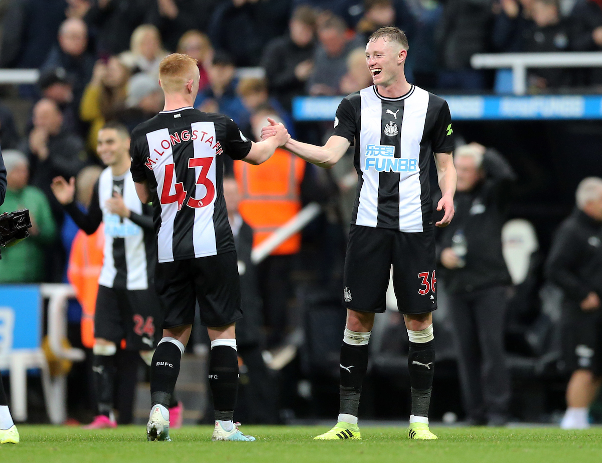Matthew Longstaff (l) and Sean Longstaff of Newcastle United after the Premier League match at St. James's Park, Newcastle Picture by Simon Moore/Focus Images Ltd 07807 671782 06/10/2019