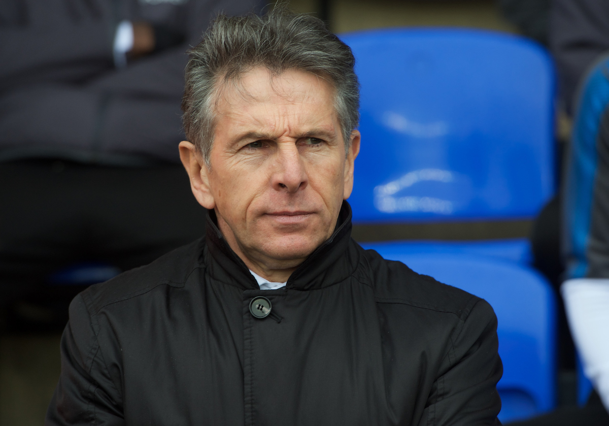Claude Puel Manager of Leicester City during the FA Cup match at London Road, Peterborough Picture by Alan Stanford/Focus Images Ltd +44 7915 056117 27/01/2018