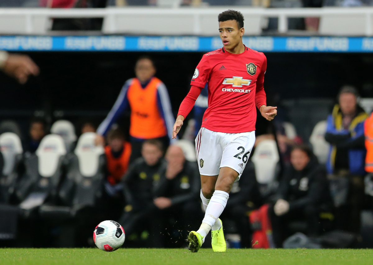 Mason Greenwood of Manchester United during the Premier League match at St. James's Park, Newcastle Picture by Simon Moore/Focus Images Ltd 07807 671782 06/10/2019