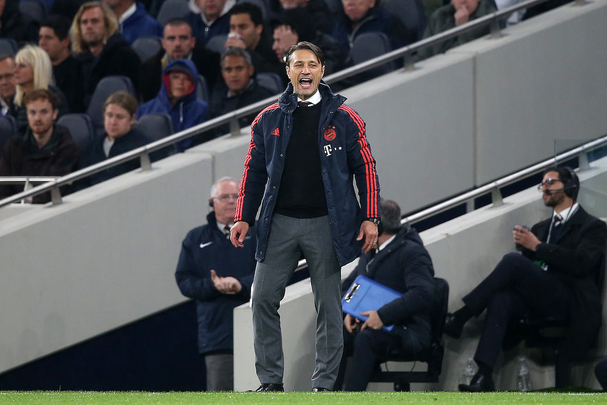 Bayern Munich Manager Niko Kovac during the UEFA Champions League match at Tottenham Hotspur Stadium, London Picture by Paul Chesterton/Focus Images Ltd +44 7904 640267 01/10/2019