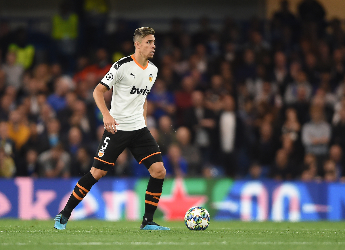 Valencia's Gabriel during the UEFA Champions League match at Stamford Bridge, London Picture by Daniel Hambury/Focus Images Ltd 07813022858 17/09/2019
