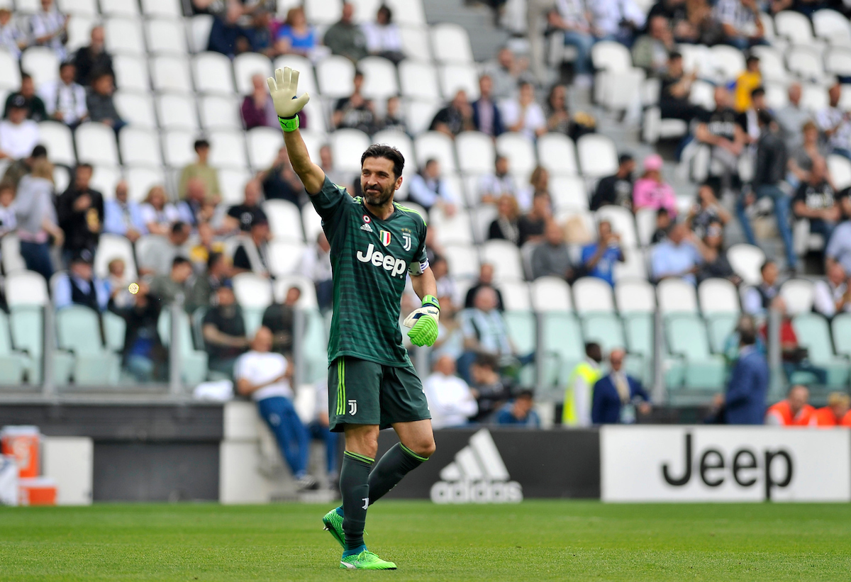 Gianluigi Buffon ended his 17-year Juventus career as they crowned a seventh straight Italian title with a 2-1 win over relegated Verona during the Serie A match at Juventus Stadium, Turin Picture by Stefano Gnech/Focus Images Ltd +39 333 1641678 19/05/2018