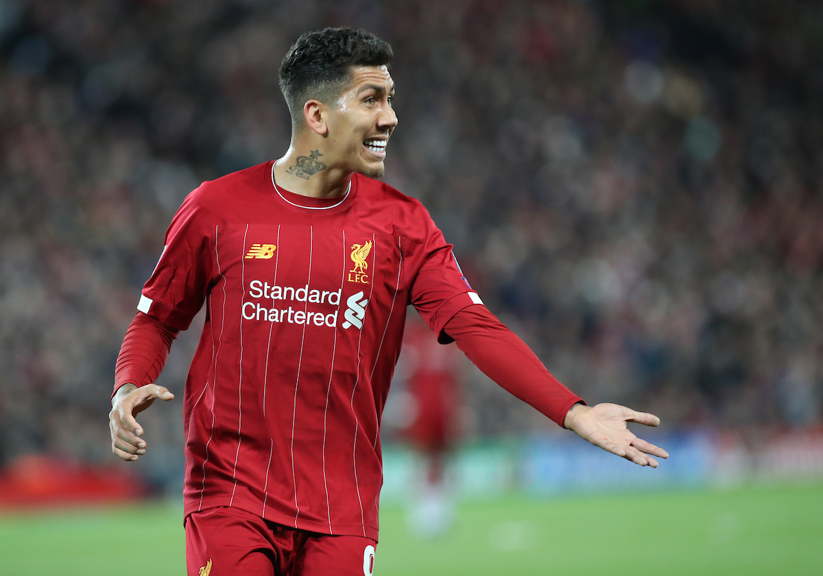 Roberto Firmino of Liverpool in action against Red Bull Salzburg during the UEFA Champions League match at Anfield, Liverpool. Picture by Michael Sedgwick/Focus Images Ltd +44 7900 363072 02/10/2019