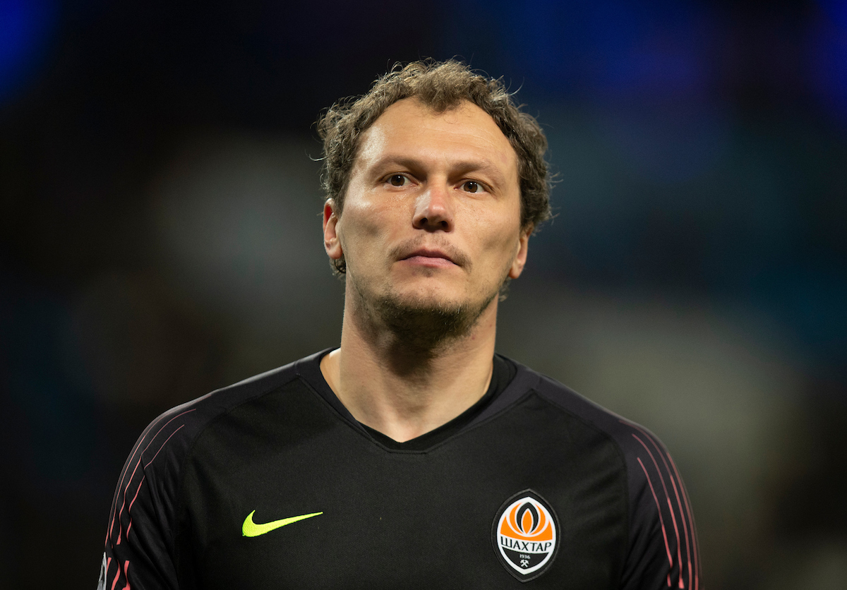 Shakhtar Donetsk goalkeeper Andriy Pyatov during the UEFA Champions League match at the Etihad Stadium, Manchester Picture by Russell Hart/Focus Images Ltd 07791 688 420 26/11/2019