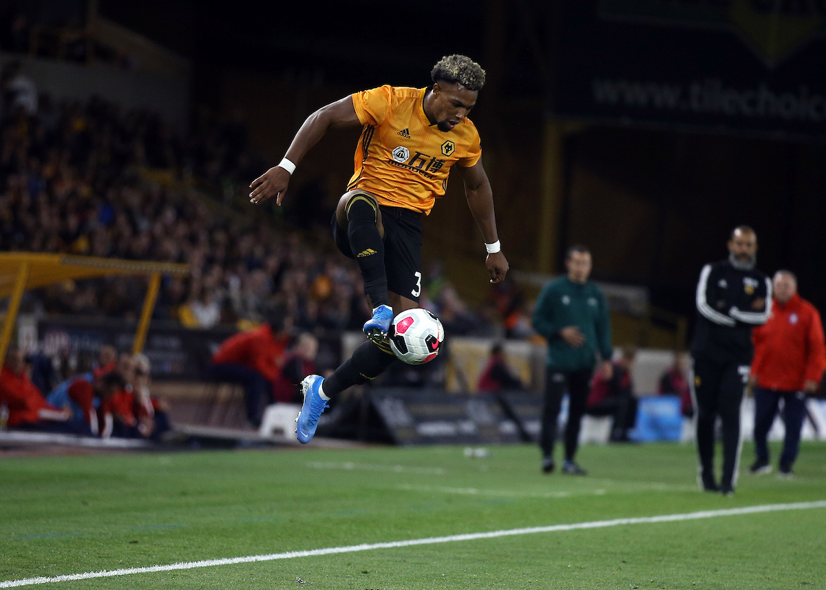 Adama Traore of Wolverhampton Wanderers during the UEFA Europa League match at Molineux, Wolverhampton Picture by Will Kilpatrick/Focus Images Ltd 07964 414368 15/08/2019