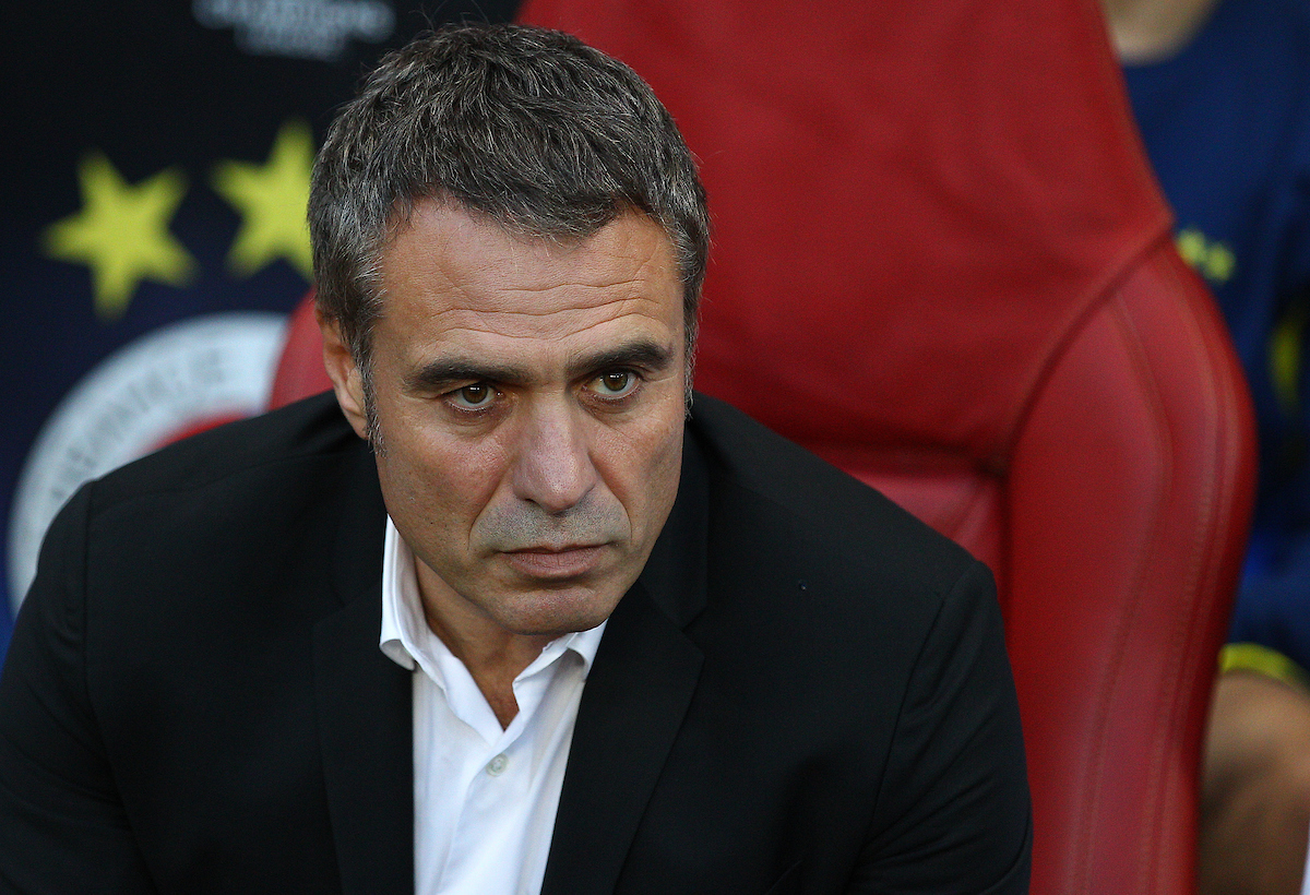 Picture by Paul Terry/Focus Images Ltd +44 7545 642257 27/08/2013 Fenerbahce SK manager Ersun Yanal during the UEFA Champions League match at the Emirates Stadium, London.