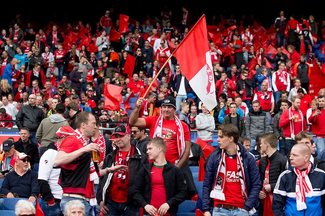AZ fans during the KNVB Cup match at De Kuip, Rotterdam Picture by Joep Joseph Leenen/Focus Images Ltd +316 5261929 30/04/2017 ***NETHERLANDS OUT***