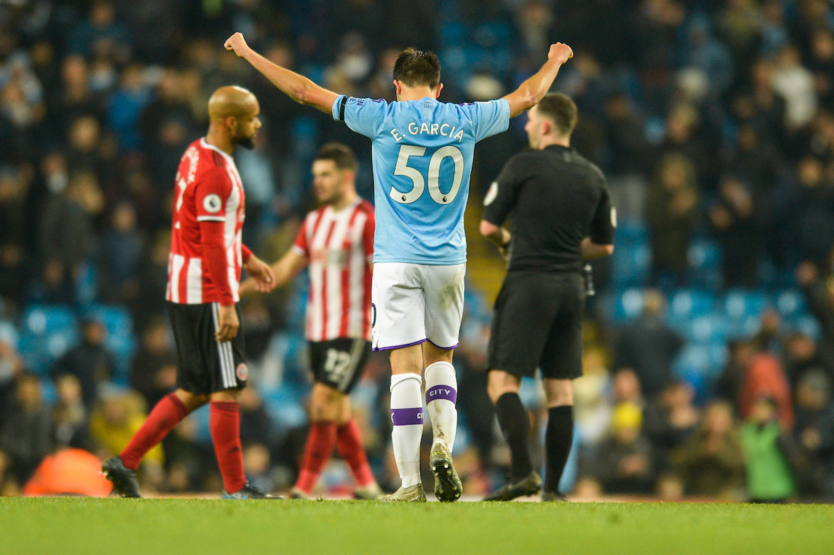 Eric Garcia of Manchester City following the Premier League match at the Etihad Stadium, Manchester Picture by Matt Wilkinson/Focus Images Ltd 07814 960751 29/12/2019