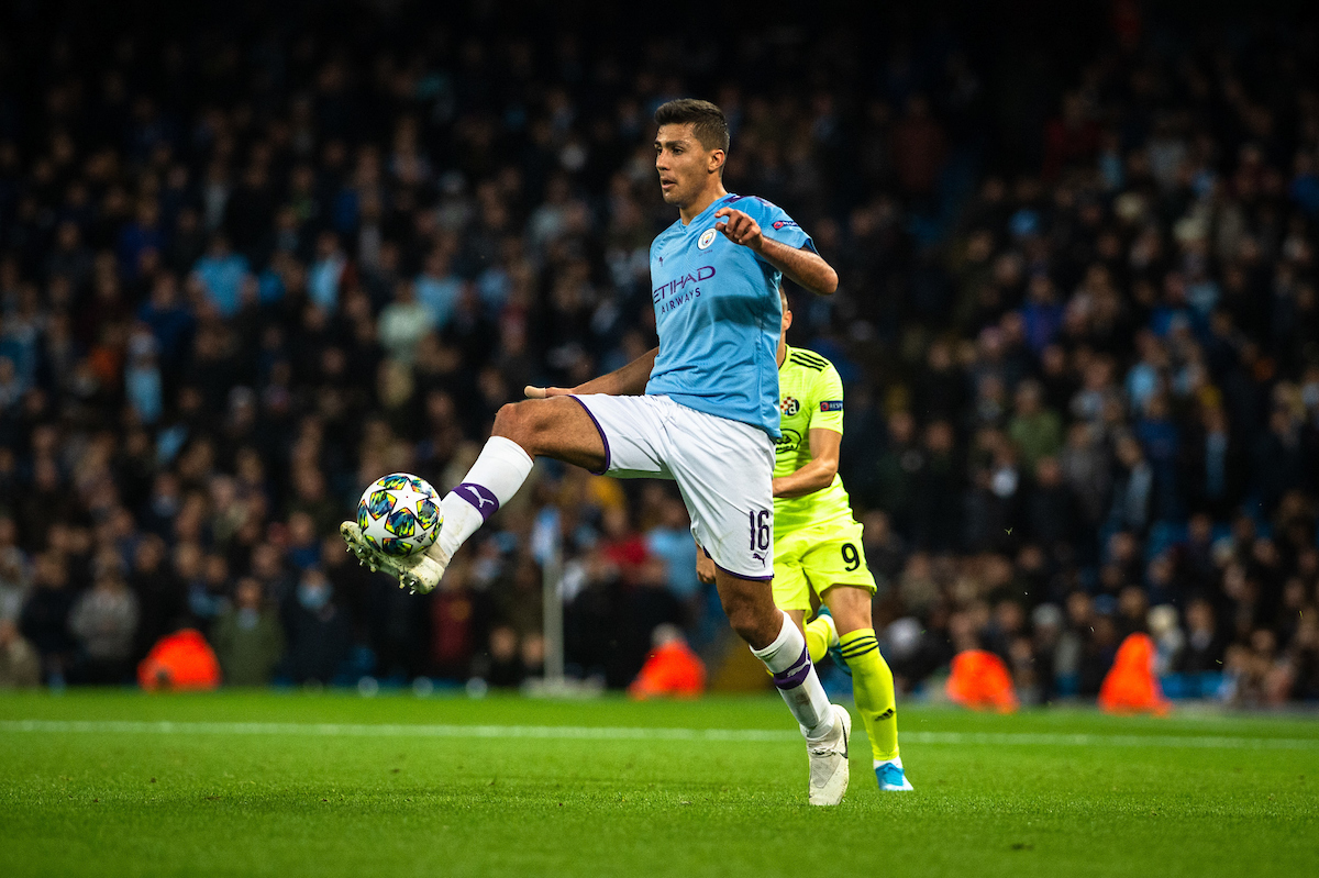 Rodri of Manchester City controls the ball during the UEFA Champions League match at the Etihad Stadium, Manchester Picture by Matt Wilkinson/Focus Images Ltd 07814 960751 01/10/2019