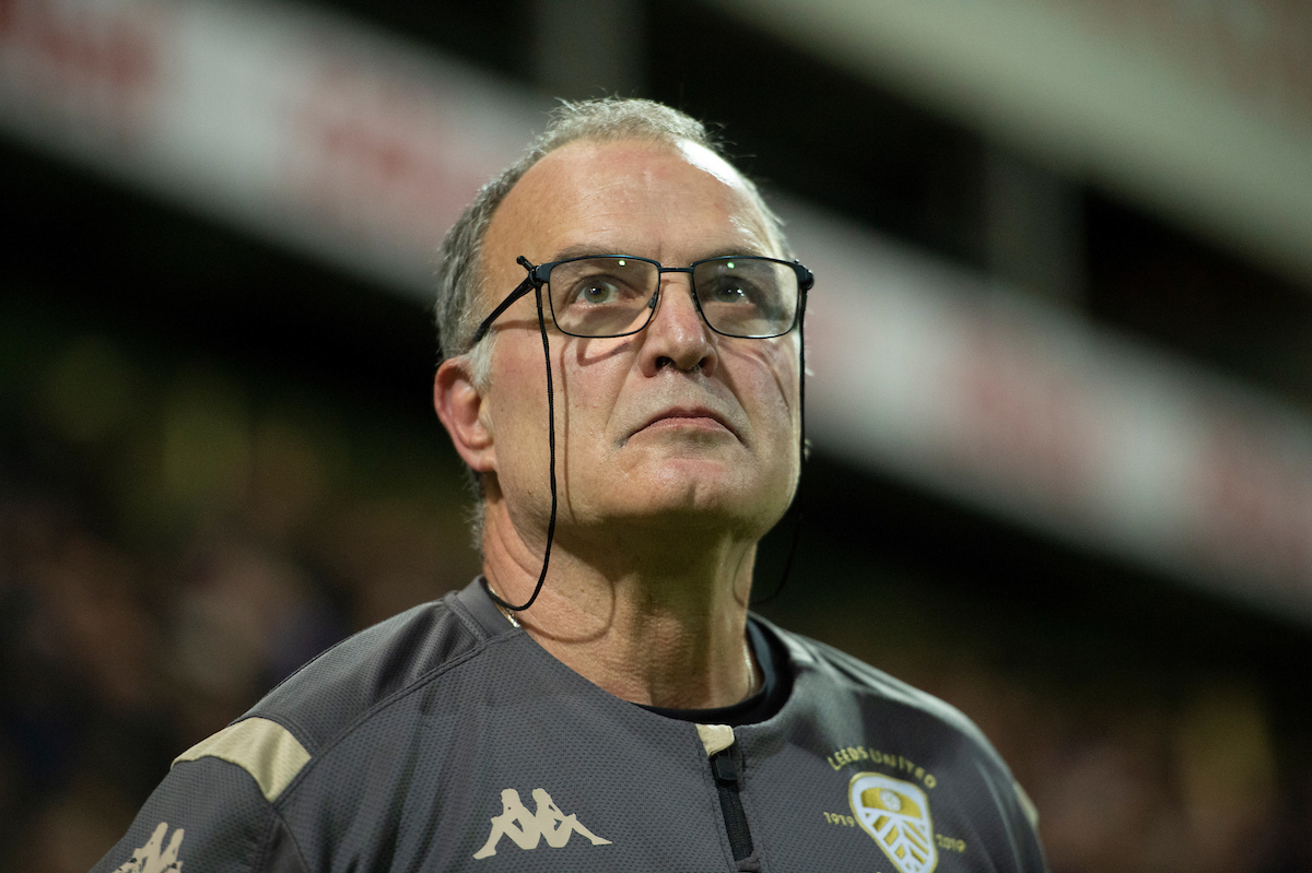 Leeds United Manager Marcelo Bielsa before the Sky Bet Championship match at Deepdale, Preston Picture by Russell Hart/Focus Images Ltd 07791 688 420 22/10/2019
