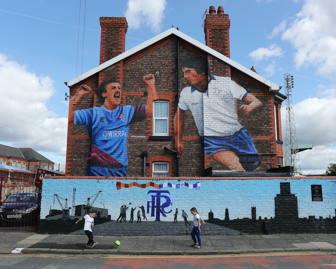 Tranmere Rovers mural outside Prenton Park, prior to the Sky Bet League 1 match between Tranmere Rovers and Gillingham, Birkenhead. Picture by Michael Sedgwick/Focus Images Ltd +44 7900 363072 07/09/2019