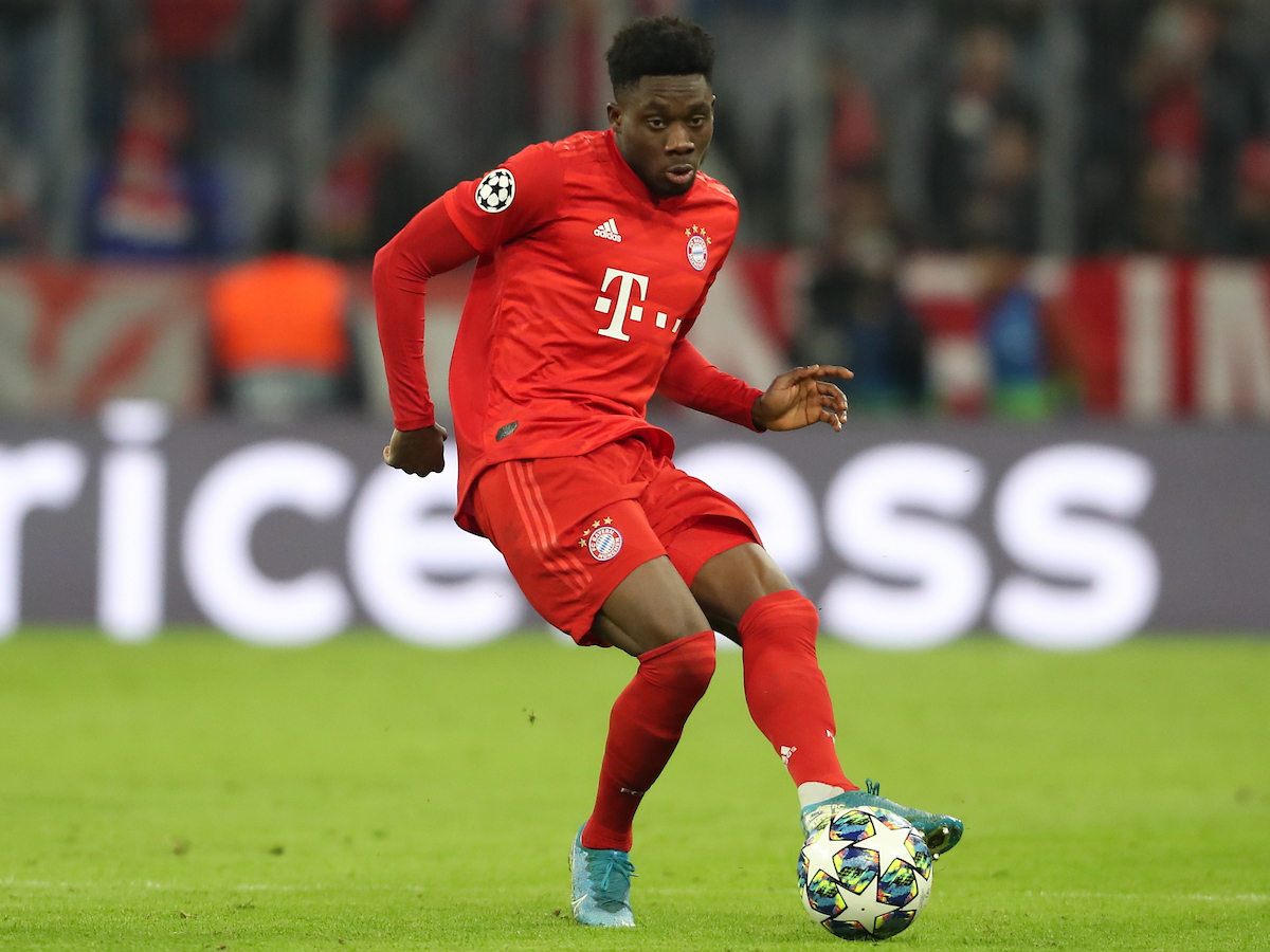 Alphonso Davies of Bayern Munich during the UEFA Champions League match at Allianz Arena, Munich Picture by Yannis Halas/Focus Images Ltd +353 8725 82019 11/12/2019